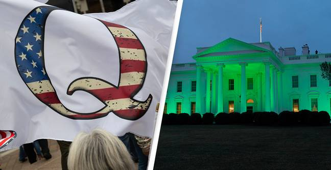 QAnon Convinced The White House's Green St Patrick's Day Light Was A Secret Message