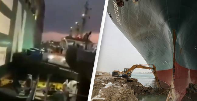 Tugboats Honk Their Horns In Celebration As Trapped Suez Canal Ship Moves For First Time
