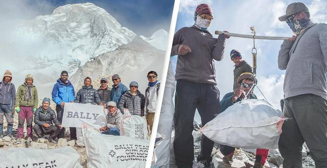 Nepalese Climbers Remove 2.2 Tons Of Rubbish From Everest While Tourists Away