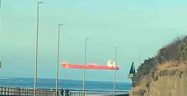 Man Stunned After Spotting Ship Floating Across The Sky
