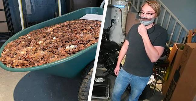 Company Pays Man His Last Pay Cheque In Grease Covered Pennies