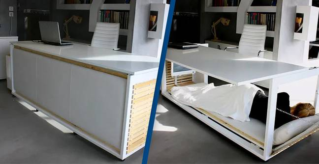 'Nap Desk' Lets You Sleep In The Office When Things Get Too Stressful