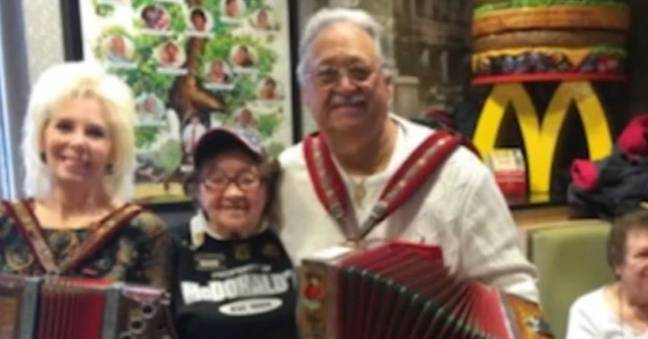 Widow Working At McDonald's Has No Plans To Retire As She Celebrates 100th Birthday