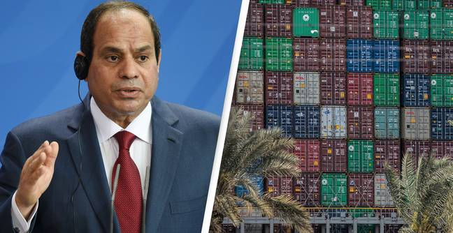 Egyptian President Abdel Fattah Al-Sisi Orders Operation To Lift Containers From Trapped Suez Canal Ship