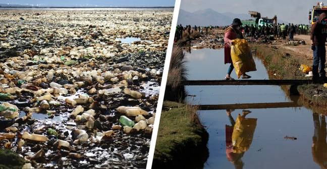 Volunteers Working To Clean Up Bolivia's 'Lake Of Plastic'