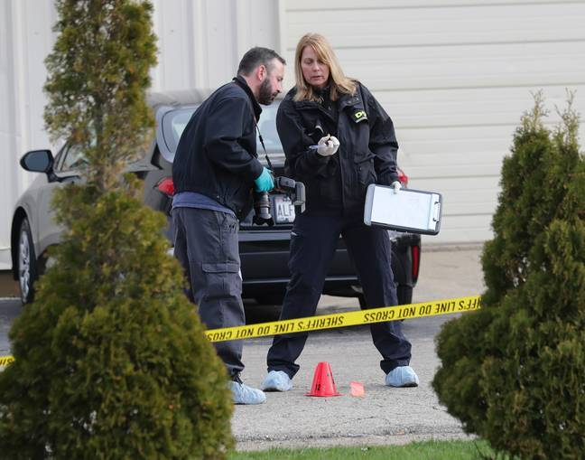 Police looking at evidence from shooting