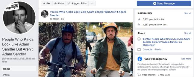 Facebook/People who kinda look like Adam Sandler but aren't Adam Sandler
