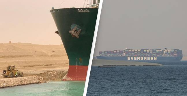 Ever Given Ship Banned From Leaving Suez Canal Until Owners Pay $1 Billion In Compensation