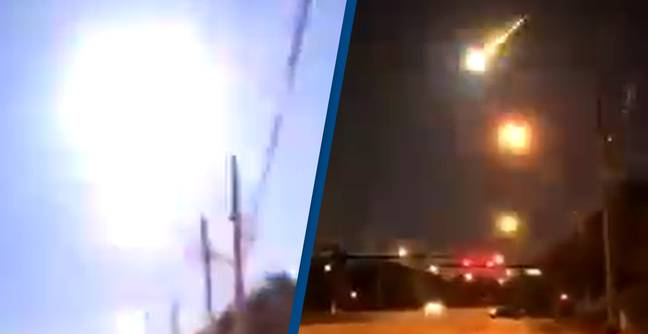 Journalist Accidentally Captures Terrifying Fireball Flying Across The Sky During Live Report