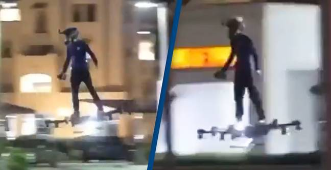Guy Spotted Zipping Through Streets On Real-Life Hoverboard Worth $20,000