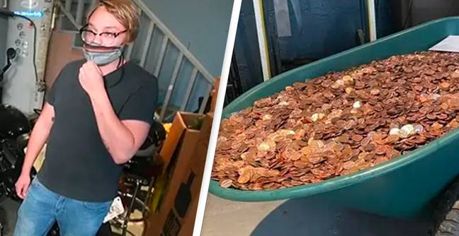 Man Paid Final Pay Cheque In Pennies Finally Gets It Changed To Cash He Can Use
