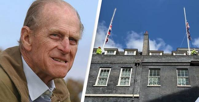 Downing Street Lowers Flag To Half Mast As Tributes Pour In For Phillip