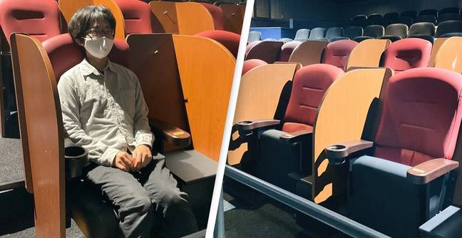 Japanese Cinema Installs Social Distancing Seats So You Can Watch Movie In Private