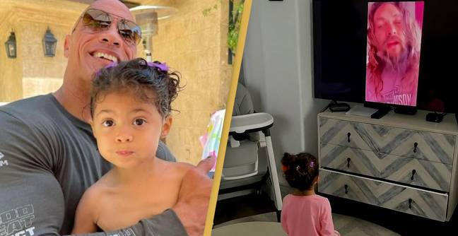 The Rock Surprises Youngest Daughter With Birthday Message From Jason Momoa