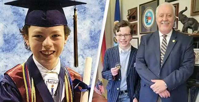 12-Year-Old Graduates From High School And College In The Same Week