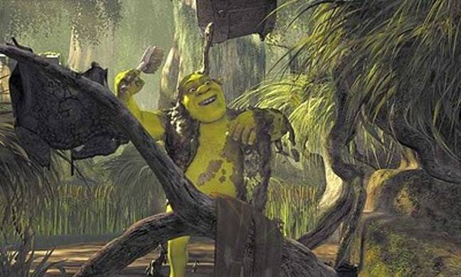 Still of the character Shrek from the 2001 movie