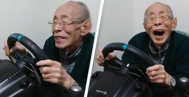 93-Year-Old Former Taxi Driver Spends Retirement Playing Racing Games On YouTube