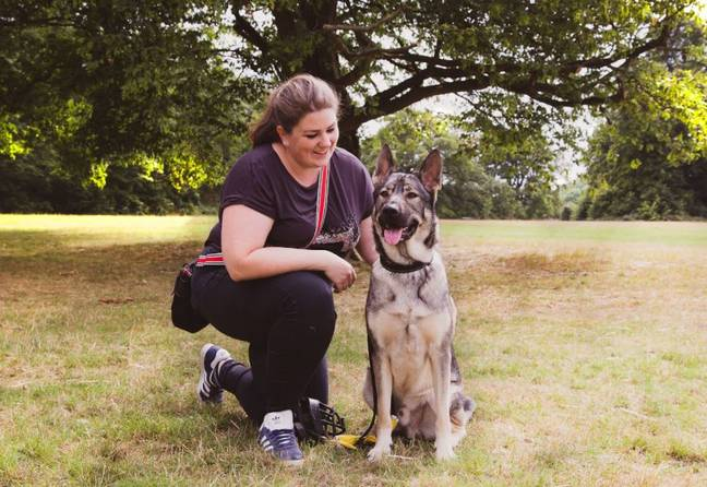 Ali Smith and her dog (Supplied)