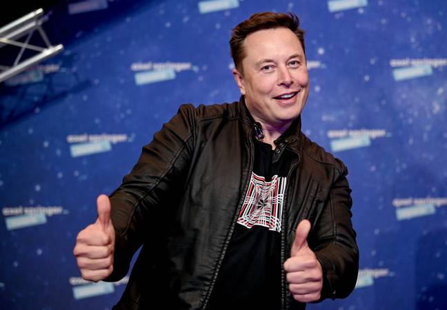 Elon Musk giving thumbs up (PA Images)