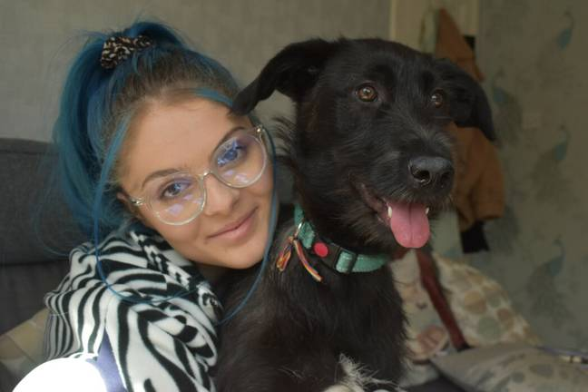 Erin Chalk and her rescue dog Rosey (Erin Chalk)