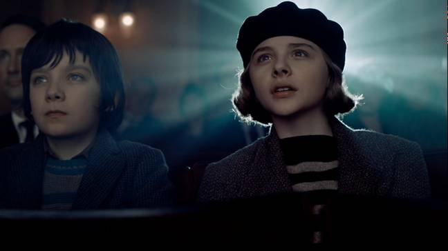Asa Butterfield and Chloë Grace Moretz in Hugo. (Paramount Pictures)