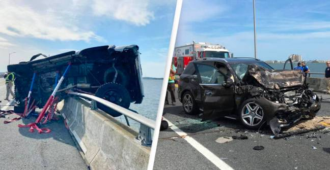 Hero Jumps From Bridge To Save Toddler Who Fell Out Of Car During Accident