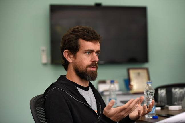 Jack Dorsey on a visit to New Delhi (PA Images)