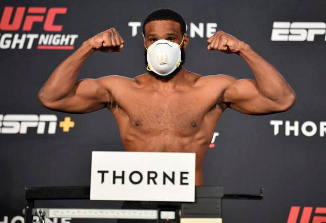 Tyron Woodley at weigh in ahead of UFC bout in Las Vegas (PA Images)