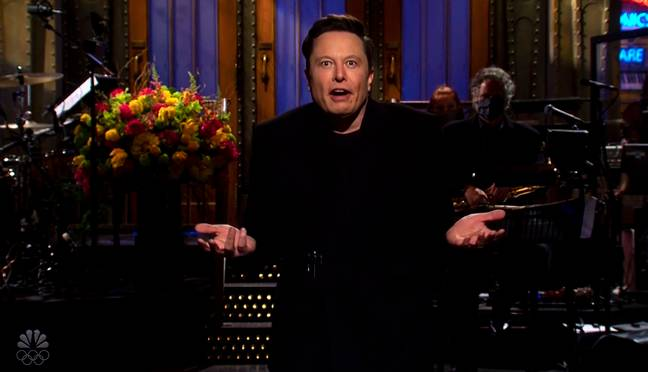 Elon Musk on SNL (PA Images)