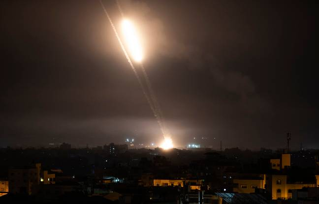 Rockets launched in the violence between Israel and Hamas. (PA Images)