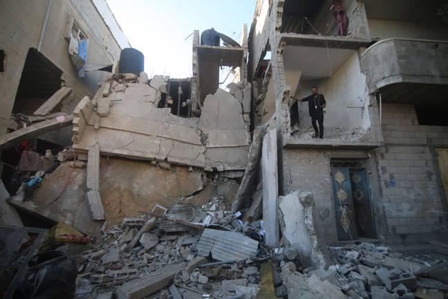 Destroyed building in Gaza (PA Images)