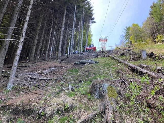 View of cable car track in Italy (PA Images)