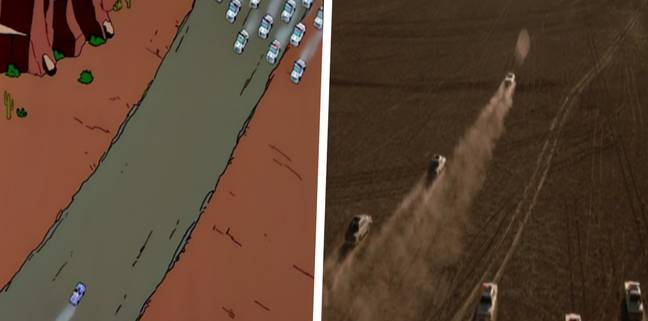 Stills from the Simpsons and Thelma & Louise (Disney/MGM)