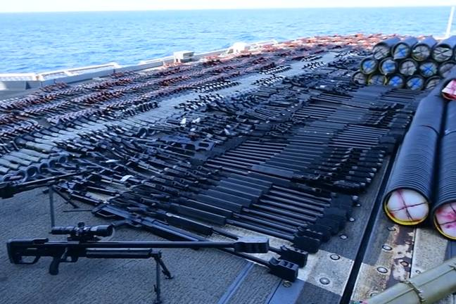 Weapons seized by US Navy