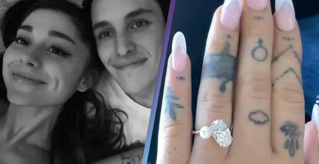 Ariana Grande Fans Dig Out Unrecognisable Photo Of Her In Wedding Dress After She Gets Married