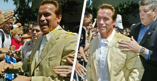 Video Of Arnold Schwarzenegger's Incredible Reaction To Getting Egged Resurfaces