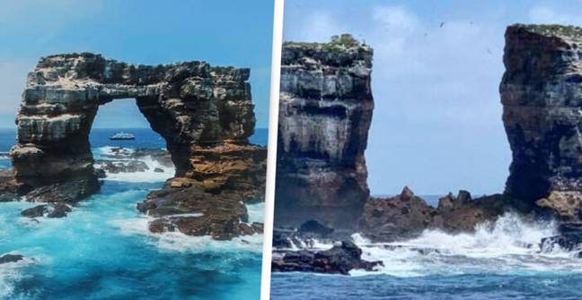 World-Famous Galapagos Rock Formation, Darwin's Arch, Collapses Into Sea