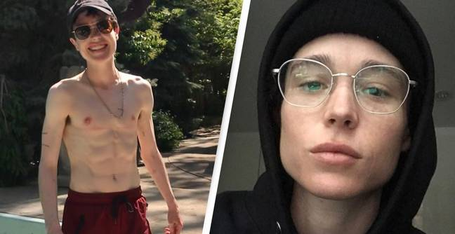 Elliot Page Praised For Posting First Shirtless Photo Since Sharing He's Transgender