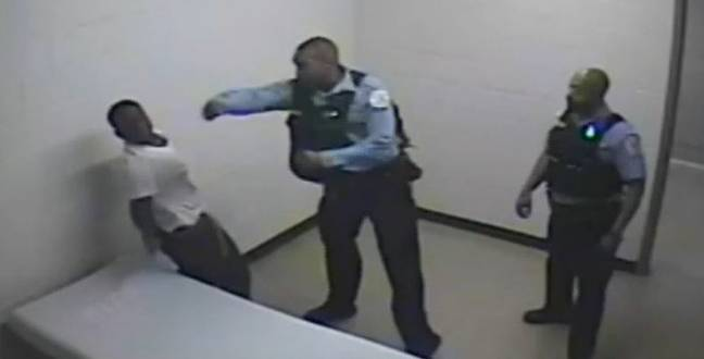 Gause appearing to punch Gartley (ABC7 Chicago)