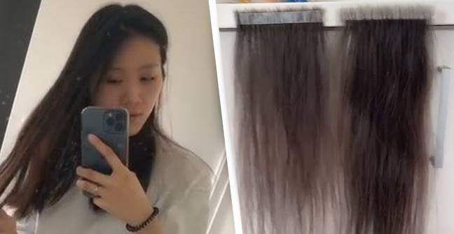 Woman Keeps Every Single Hair That Falls Out And It's Enough To Make Extensions