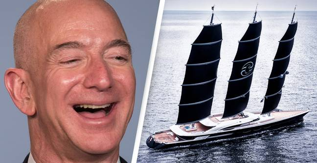Jeff Bezos Reportedly Orders Extravagant Three-Masted 417-Foot-Long Superyacht