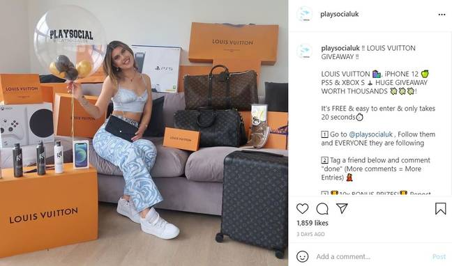 Play Social competition post (PlaySocial/Instagram)