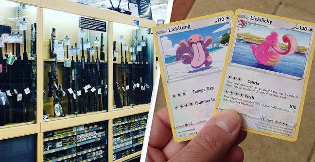 Walmart Criticised For Banning Pokémon Cards But Still Selling Guns (PA Images)