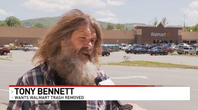 Man arrested after collecting trash from outside Walmart (WGME 13)