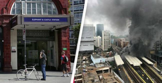 Huge Fire Breaks Out At Elephant And Castle Station