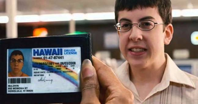 Mclovin and his fake ID (Sony Pictures Releasing)