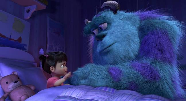 Boo and Sulley in Monsters, Inc. (Pixar)