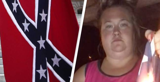 Woman Films Herself Burning 'Racist' Confederate Flag