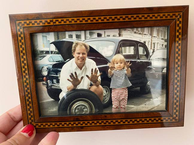 An old photograph of Remy and her dad. (Supplied)