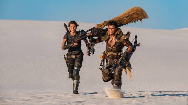 Milla Jovovich and Tony Jaa in Monster Hunter. (Sony Pictures Releasing)